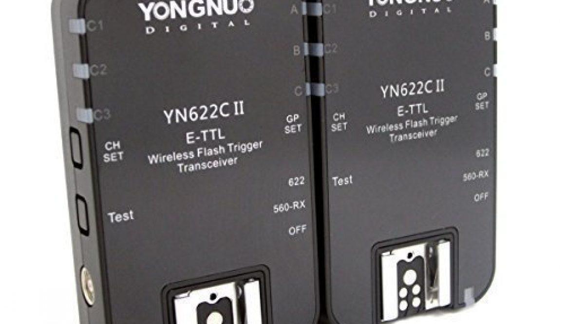 Yongnuo YN-622C II Wireless TTL E-TTL Flash Trigger Flash Disparadores Wireless Flash Radio Transmisor-receptor inalambrico para Canon + WINGONEER® difusor