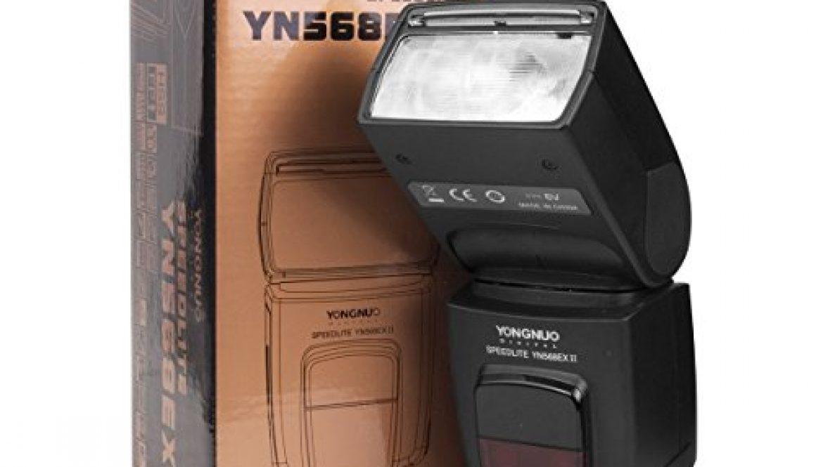 Yongnuo YN-568EX II – Flash con brazo para Speedlite Canon 5D 7D 60D 50D LF246, negro