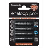 Panasonic Eneloop Pro BK-3HCDE/4BE – Pack 4 pilas recargables, AA, 2500 mAh