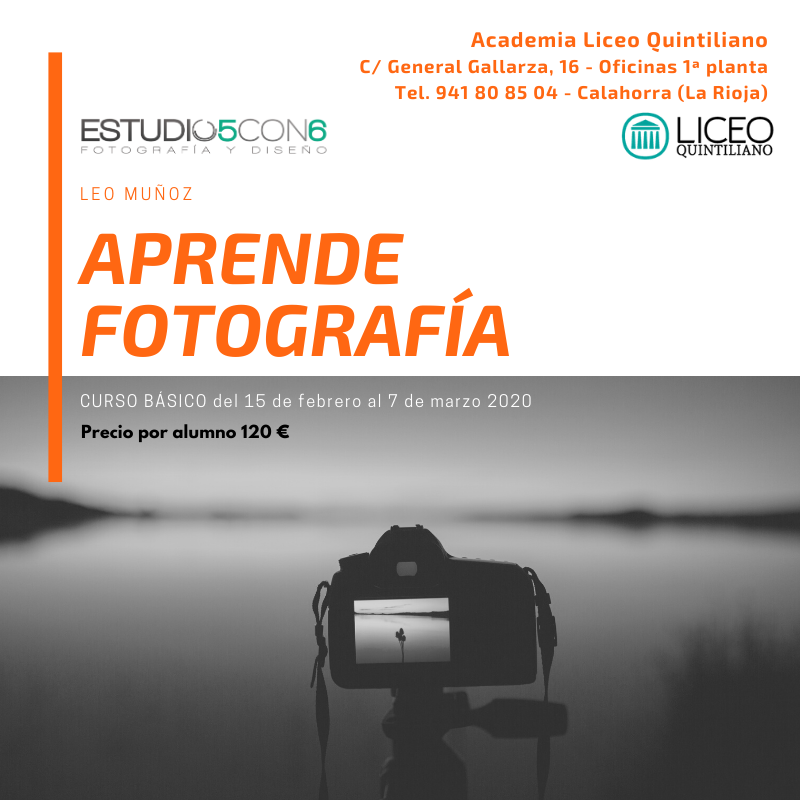 EN FEBRERO CURSO BÁSICO DE FOTOGRAFÍA