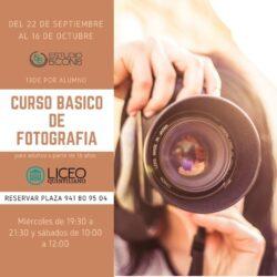CURSO BÁSICO DE FOTOGRAFÍA